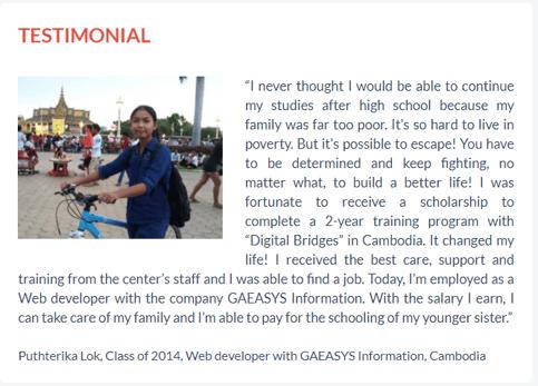 nonprofit fundraising websites-testimonial