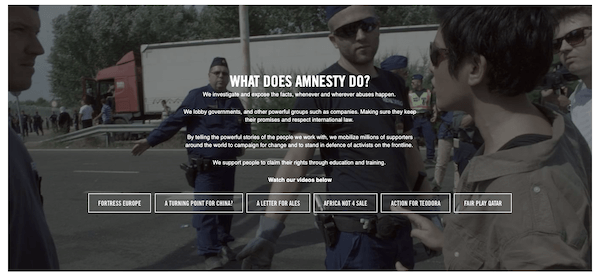 nonprofit-website-Amnesty-mission