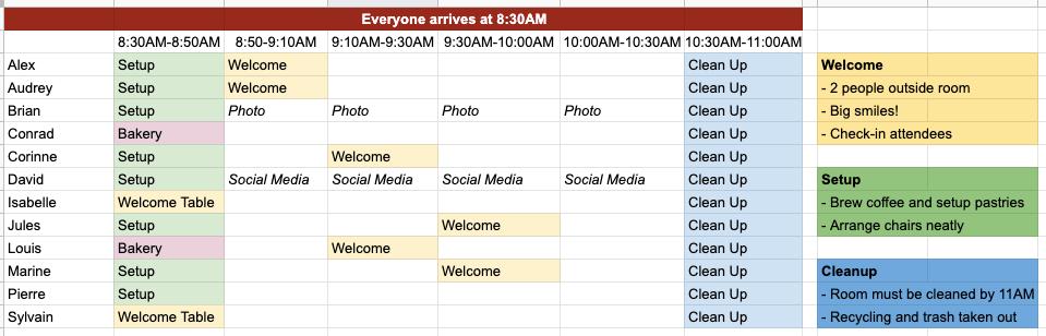 event-schedule-nonprofit