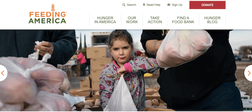 nonprofit-website-structure-Feeding-America