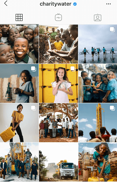 Instagram-for-nonprofits-feed-charitywater